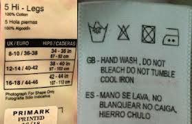 Traducción literal - Mala traducción - mano se lava